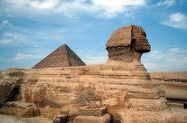 Great Pyramid and Sphinx at Giza